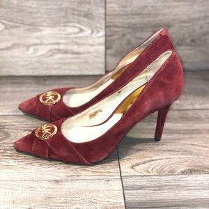 MICHAEL KORS FAUX SUEDE LEATHER PUMPS